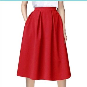 Dresses & Skirts - NWOT Red A Line Skirt